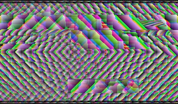 0001 - Glitch Print - Art of Kaliptus - Transpersonal Realms of Consciousness