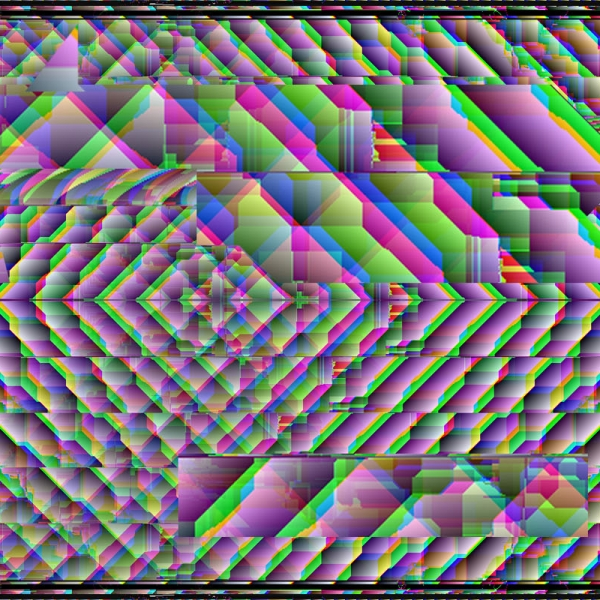 0001 - Glitch Print - Art of Kaliptus - Transpersonal Realms of Consciousness