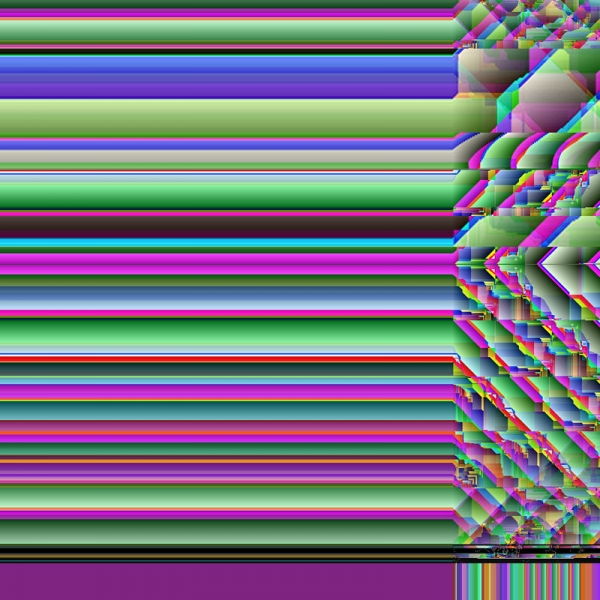 0002 - Glitch Print - Art of Kaliptus - Transpersonal Realms of Consciousness