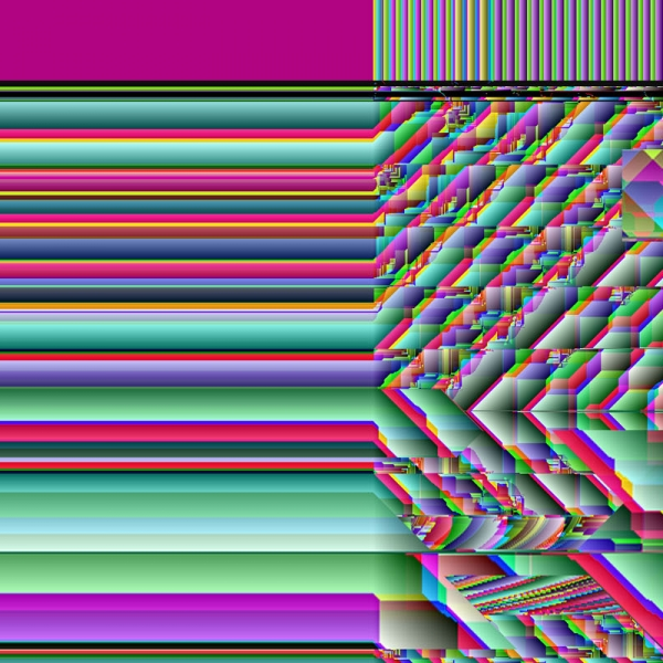 0004 - Glitch Print - Art of Kaliptus - Transpersonal Realms of Consciousness