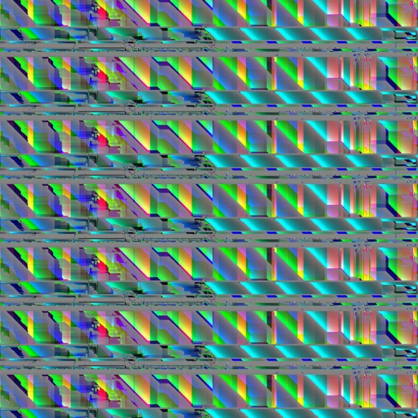 0009 - Glitch Print - Art of Kaliptus - Transpersonal Realms of Consciousness