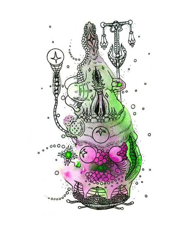 Veil Keeper - Art of Kaliptus - Transpersonal Realms of Consciousness