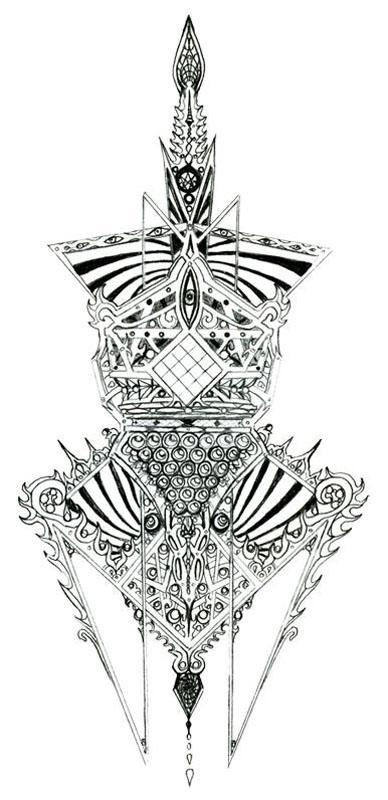 Sketch 005 - Art of Kaliptus - Transpersonal Realms of Consciousness