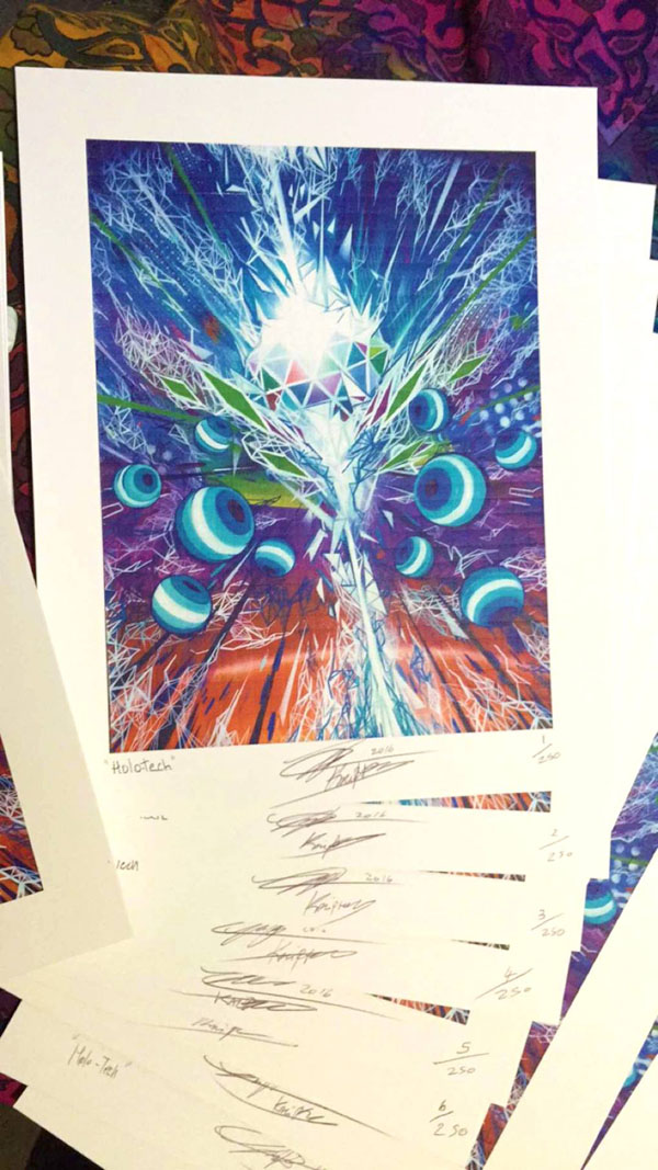 Holo Tech – Limited Edition Blotter Print - Art of Kaliptus - Transpersonal Realms of Consciousness