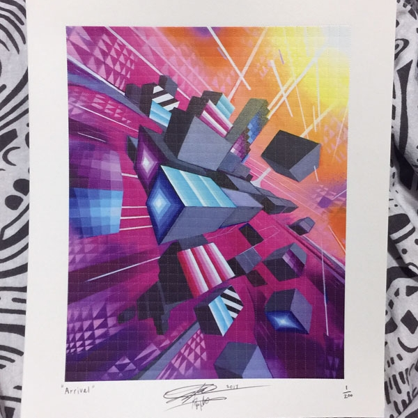 Arrival – Limited Edition Blotter Print - Art of Kaliptus - Transpersonal Realms of Consciousness