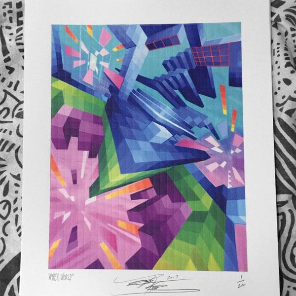 Hyperworld – Limited Edition Blotter Print - Art of Kaliptus - Transpersonal Realms of Consciousness