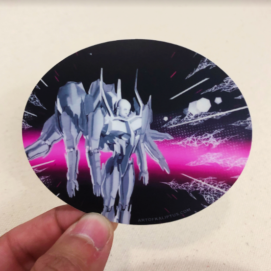 Guardian Mech - Sticker - Art of Kaliptus - Transpersonal Realms of Consciousness